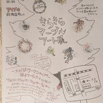 キラキラマーブルアート展の記事に添付されている画像