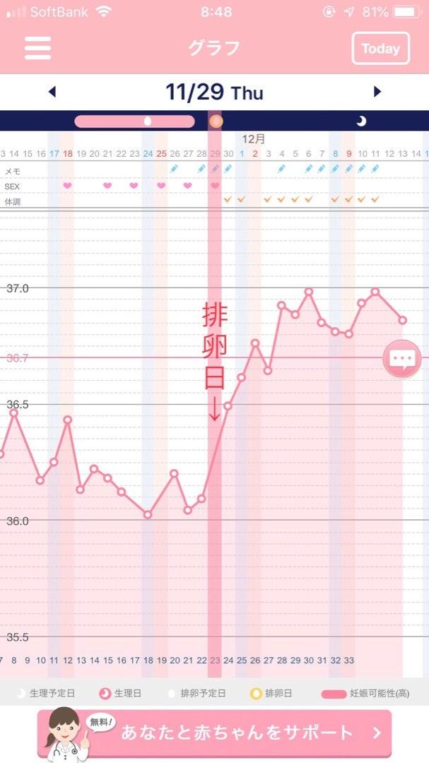 高温期14日目 フライング