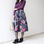 【○○円!?と必ず驚かれる!】しまむらの花柄スカートでコーデ♪