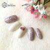 雪の結晶×サンドジェルの冬ネイルの画像