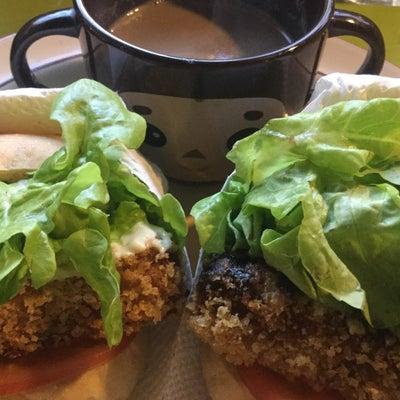 今日の菜食朝ご飯 ◎高野豆腐の野菜たっぷりカツサンド(味噌とソイマヨ)の記事に添付されている画像