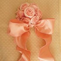 シルクフラワーの作品♪ピンクローズのミニ飾り♡の記事に添付されている画像