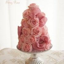 シルクフラワーの作品♪ピンクローズとホワイトローズのツリー☆の記事に添付されている画像