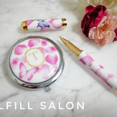 【生徒様作品】バラの花びらと蝶が舞う、ポーセラーツのプレゼント!ボールペンとコンの記事に添付されている画像