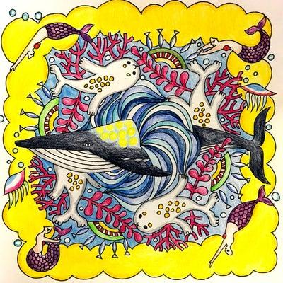 宇宙とつながるマンダラ塗り絵 海曼荼羅の記事に添付されている画像