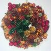 クリスマス風アレンジ☆リースをリメイクしましたの画像
