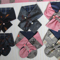 かさばらないマフラー 絞りの羽織&紬等使用 の記事に添付されている画像