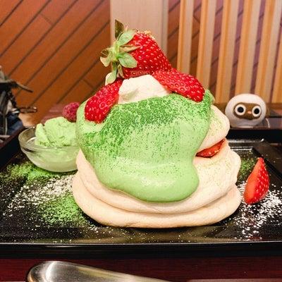 Riz Labo Kitchen リズラボキッチン銀座店 抹茶といちごのパンケーの記事に添付されている画像