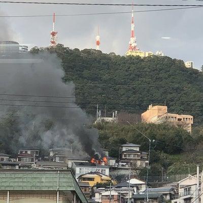 ▼唸声火災現場のストリートビュー/長崎市稲佐山温泉近くで火災発生の記事に添付されている画像