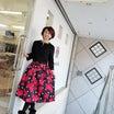 大人気♥。・゚♡゚・。♥。・゚♡゚・。♥。 プリント柄スカート 赤バッグ♡