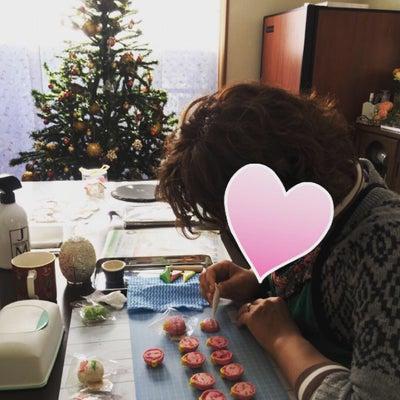 クリスマスマカロン、レッスンレポの記事に添付されている画像