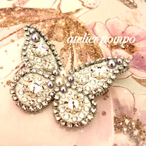 冬の蝶々♡雪のイメージでの記事に添付されている画像