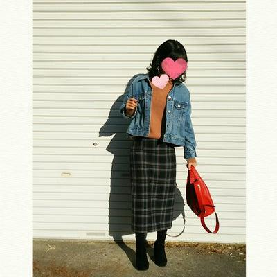 今日のコーデ★ゆるニット×タイトスカートの半分細いコーデの記事に添付されている画像