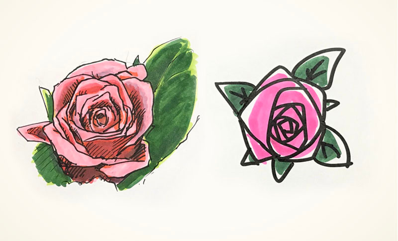 第162回それっぽく見える花の簡単な描き方 プレゼントウェルカム