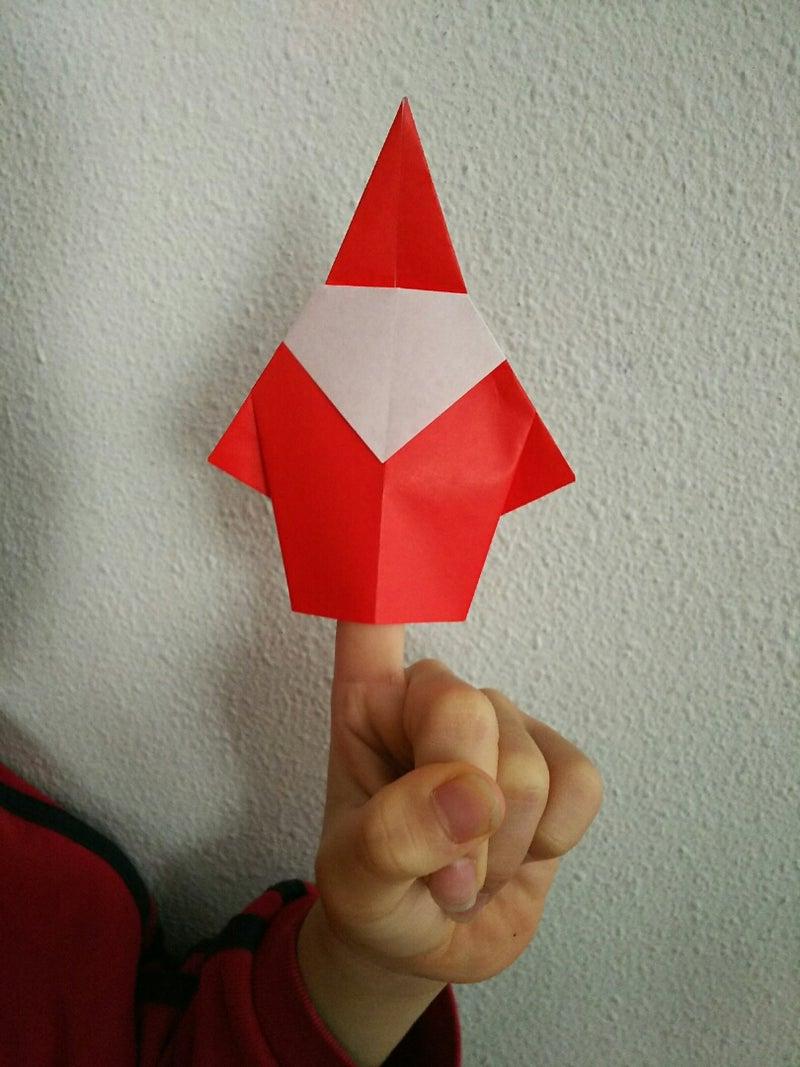 サンタクロース 折り紙 折り 方