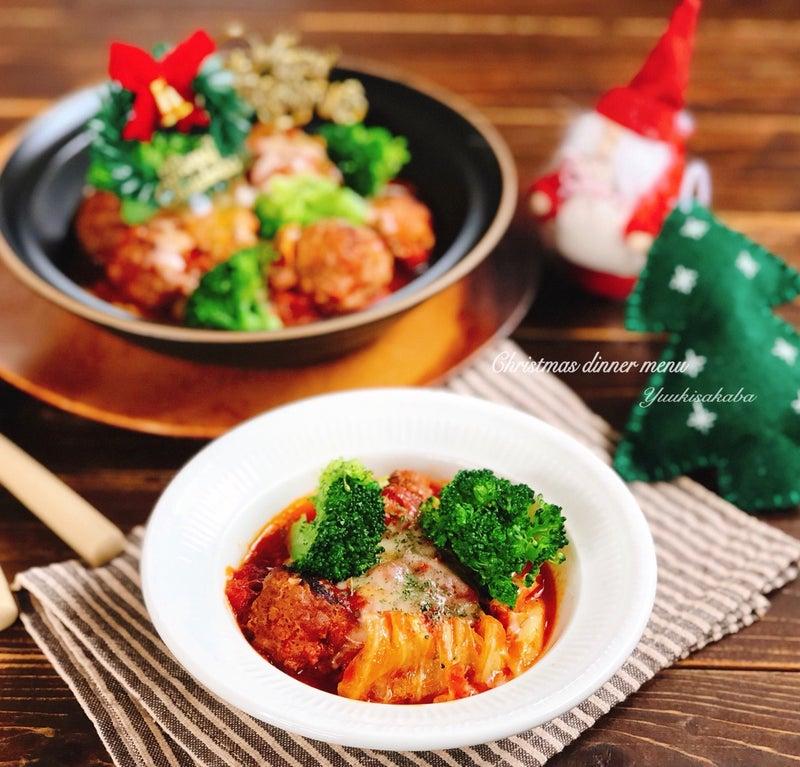 xmas当日でもぱぱっと作れる ひき肉とキャベツで手軽に作れるクリスマス