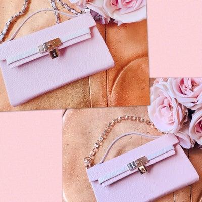 ☆ピーチピンク&天使が可愛い斜めがけスマホケースの記事に添付されている画像