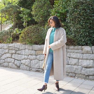 Today's Outfit♡綺麗色ニット×デニム コーデの記事に添付されている画像
