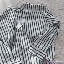 《 GU 》長めが気分♡なストライプシャツの記事に添付されている画像