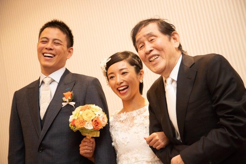 wedding party 欽ちゃんとドレスとブーケ 片岡安祐美 オフィシャル