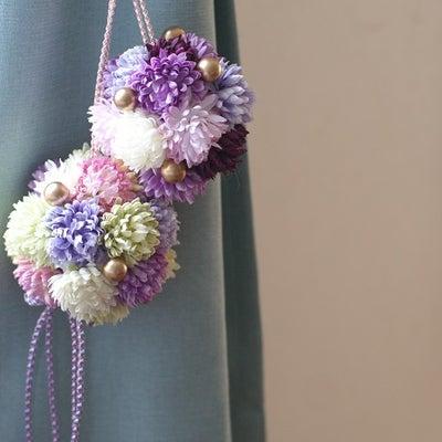 ドア飾りとしても素敵なピンポンマムのダブルフラワーボール!の記事に添付されている画像
