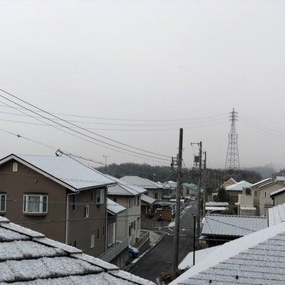 初雪と夜ご飯の記事に添付されている画像