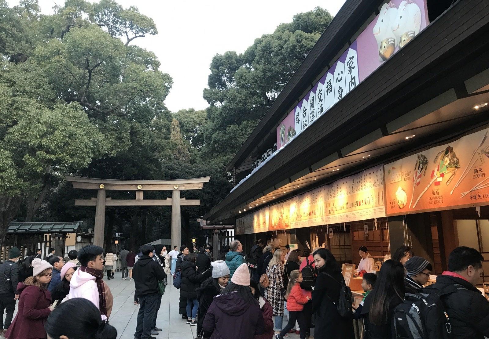 ムーちゃんワールド明治神宮に年末詣で(すいてるよ!)