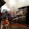 ▼唸声火災現場のストリートビュー/三熊野神社そばで火災発生、6棟を全焼し1名死亡の画像