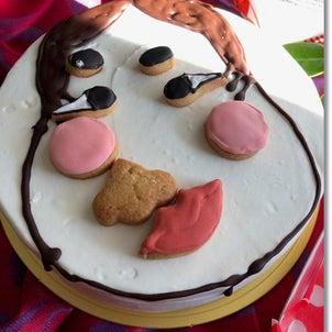 元旦は福笑いケーキでバカ笑い♪♪♪2019年スタートです♪の画像