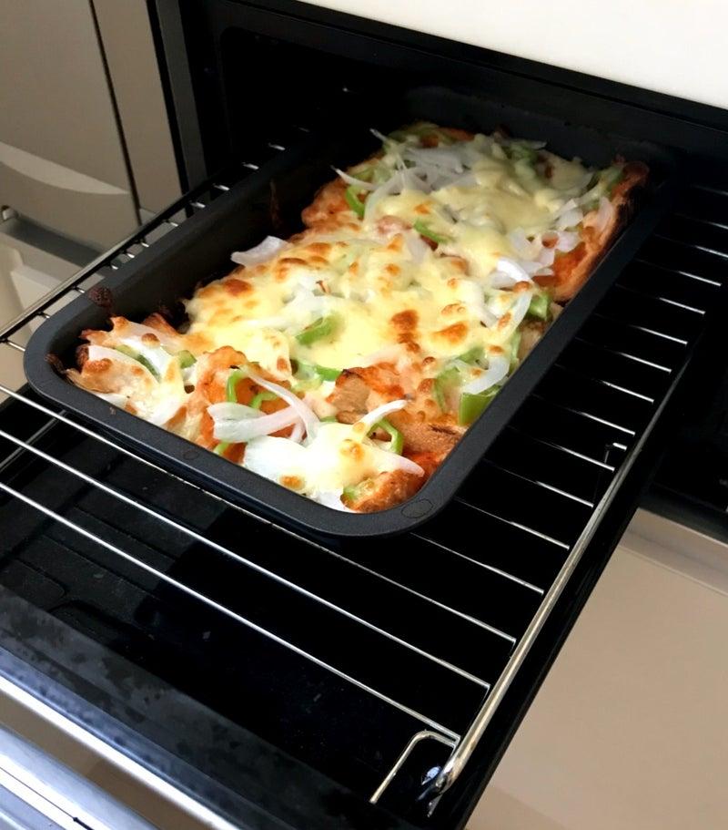 魚焼きグリルでピザトースト | mikanの片付け&子育てメモ日記