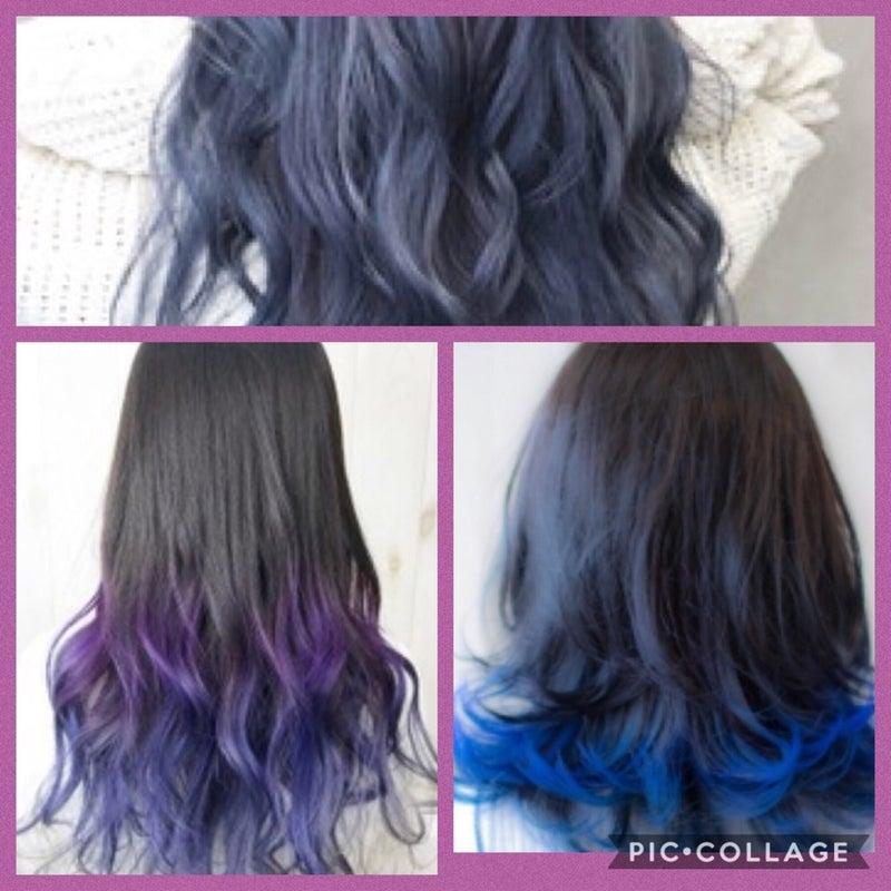 三重でのカラー活動 ヘアカラー 紫から青へ Color And Medical