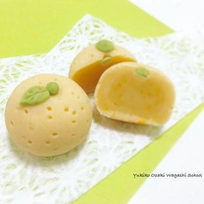 和菓子教室♪簡単柚桃山と柚餅☆グルテンフリーな可愛いオマケの和菓子も作れちゃう♪の記事に添付されている画像
