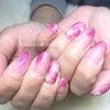 ニュアンス冬ピンクネイルの画像
