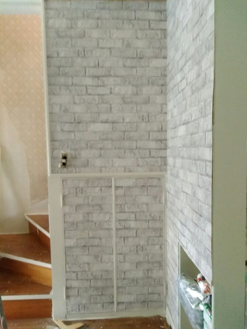 砂壁の上に貼る壁紙 Diyママのブログ 中古戸建て大家さん