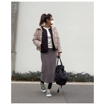 GU中綿ブルゾンの重ね着で防寒アスレジャーコーデの記事に添付されている画像