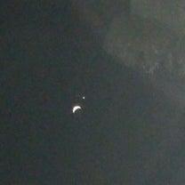 月と金星と初詣(初恋の巨石のある神社での記事に添付されている画像