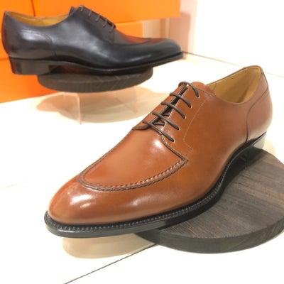 浅草の靴メーカーサンタリ(Tate shoes)の新作を大崎の実演展示会で試し履の記事に添付されている画像