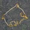 GPS地上絵33「水を飲む猪」(GPS drawing)の画像