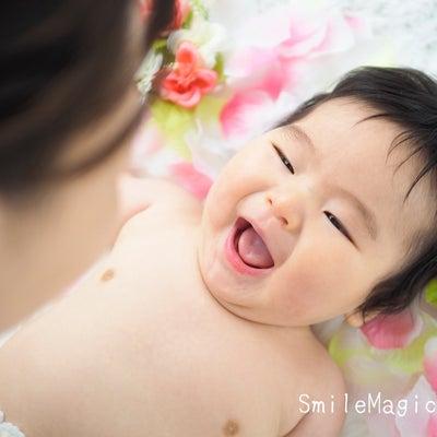 こんなに笑ってくれるんだぁ♡(^^)|静岡ベビーフォト定期撮影の記事に添付されている画像