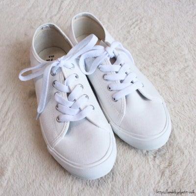 【しまパト】1つ持っておくと便利!プチプラな白スニーカー♡の記事に添付されている画像