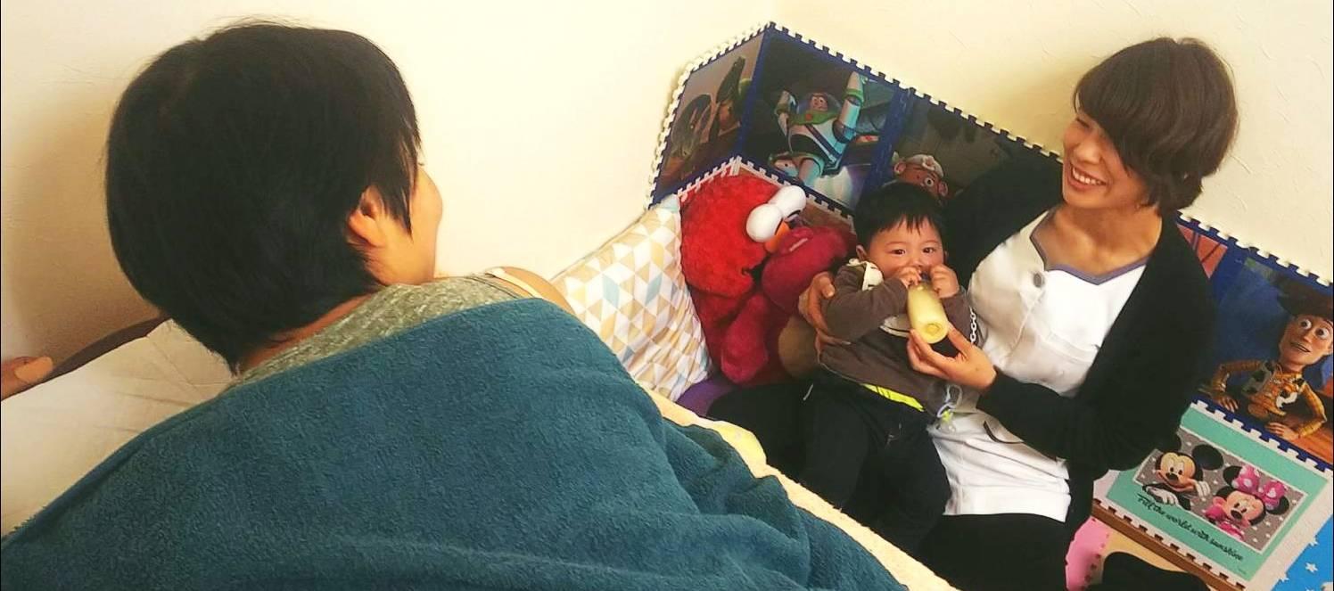 親子が同じ部屋で施術を受けられるので安心