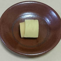 季節の和菓子「若竹」です。の記事に添付されている画像