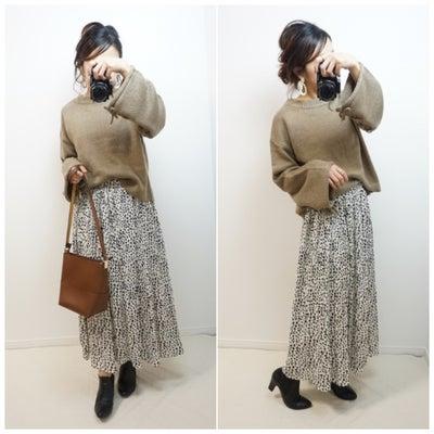 【しまむら】履いてると安心するレオパードプリーツスカート♪の記事に添付されている画像