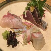 はかたあゆむ 刺身3種盛り合わせに鮟鱇と蕪の味噌煮♪の記事に添付されている画像
