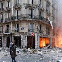 パリのガス爆発と9週目のジレ・ジョーヌの記事に添付されている画像