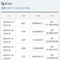 暗号通貨取引所CROSS exchangeの1月13日の配当金を公開します!の記事に添付されている画像