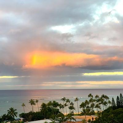 ハワイならではの朝の日課の記事に添付されている画像