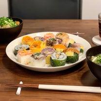 食卓が華やかになる手まり寿司♡の記事に添付されている画像