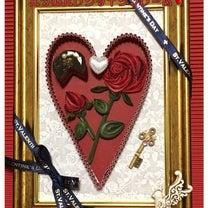 今月の課題…バラのバレンタインフレーム!の記事に添付されている画像
