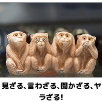 「見猿、言わ猿、聞か猿、せ猿」の記事に添付されている画像